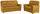 Sitzgarnitur Queenline 3er 198 cm/2er 146 cm - Currygelb/Schwarz, KONVENTIONELL, Holz/Holzwerkstoff (198/96/92cm) - James Wood