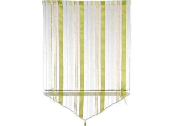 Vitrázsfüggöny Milou - Pezsgő/Piros, konvencionális, Textil (100/140cm) - Ombra