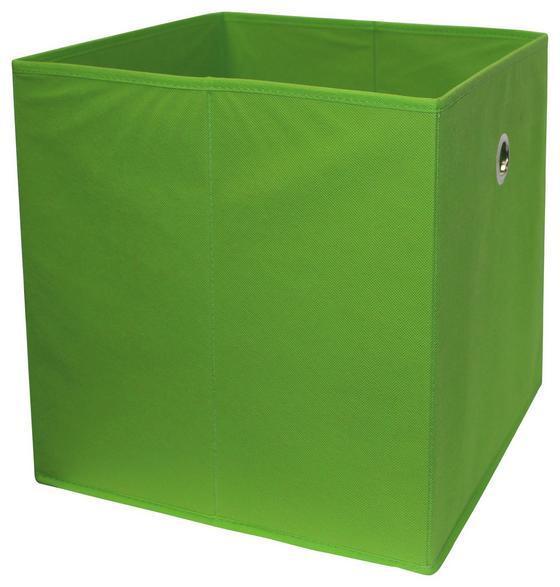 Skladací Box Cubi - zelená, Moderný, kompozitné drevo/textil (32/32/32cm)