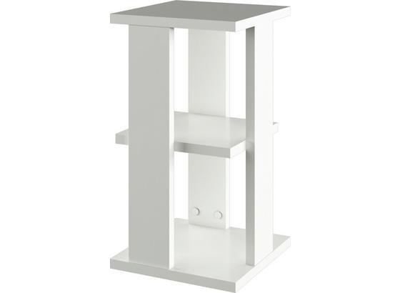 Nočný Stolík Box V2 - biela, Moderný, kompozitné drevo (32/59/32cm)