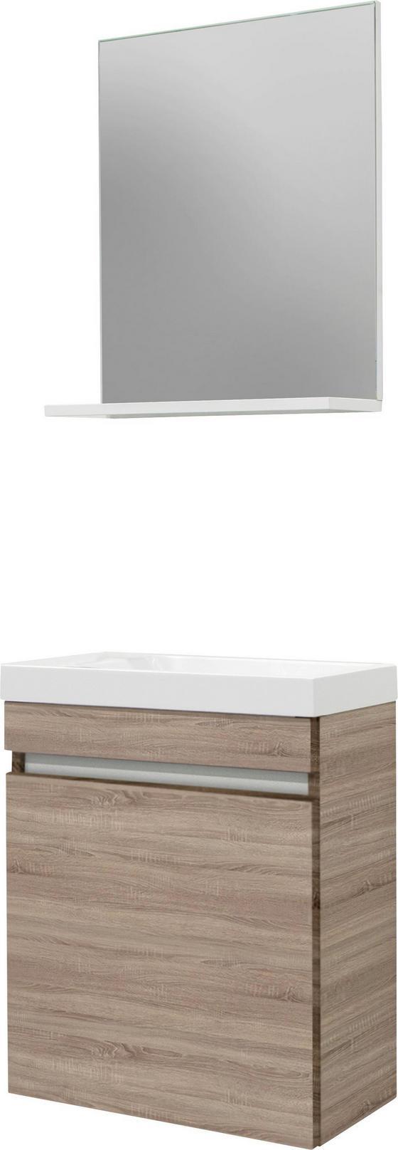 BADEZIMMER Slim Eiche - Eichefarben/Weiß, MODERN, Holzwerkstoff (48/25cm)