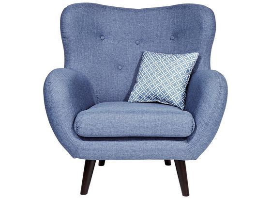 Tv Kreslo Viborg - modrá, Štýlový, textil (91/104/80cm)