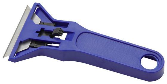 Schaber 60mm - Blau/Silberfarben, KONVENTIONELL, Kunststoff/Metall (13cm) - Gebol
