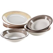 Tafelservice 8-Tlg Tafelservice Duole - Beige/Braun, Basics, Keramik - Mäser