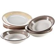 Tafelservice 8-Tlg Tafelservice Duole - Beige/Braun, Basics, Keramik