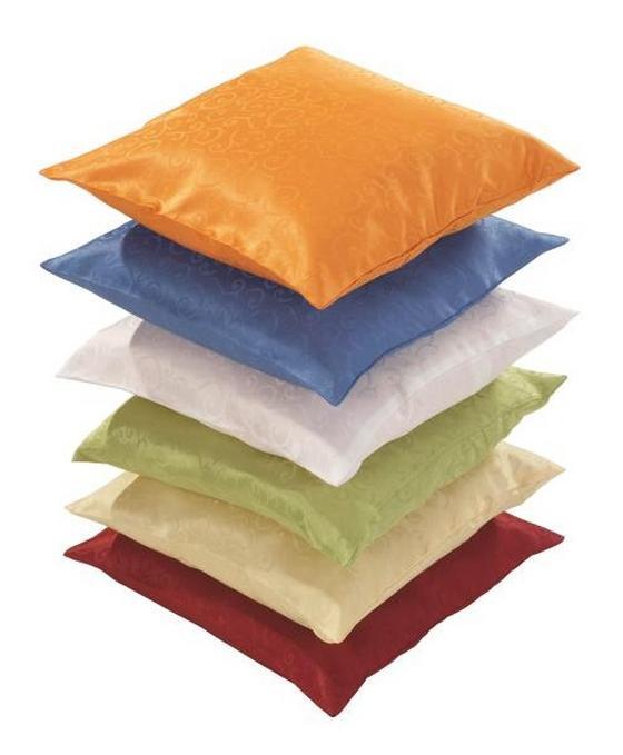 Párnahuzat Curl - sárga/borvörös, konvencionális, textil (40/40cm) - OMBRA