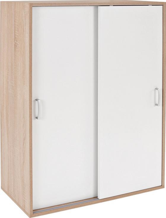 Schrank Tio Typ 12 - Eichefarben/Weiß, MODERN, Holzwerkstoff (80/115/35,5cm)