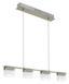 LED-hängeleuchte Clap 1 - Weiß/Nickelfarben, MODERN, Glas/Metall (77,5/8/110cm)