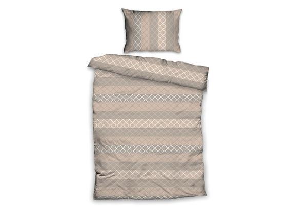 Posteľná Bielizeň Gabriela - béžová, Basics, textil (140/200cm)