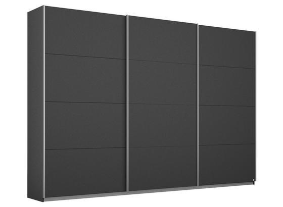Schwebetürenschrank Belluno B:271cm Dunkelgrau Dekor - Dunkelgrau, MODERN, Holzwerkstoff (271/210/62cm)