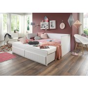 Stauraumbett Timmi Weiß 90-180x200 - Weiß, KONVENTIONELL, Holz/Holzwerkstoff (205/99-189/80cm)