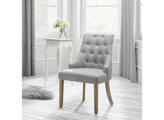 Židle Mila - barvy dubu/světle šedá, Moderní, dřevo/textil (56,5/93,5/63cm) - Mömax modern living