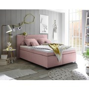 Boxspringbett Sunrise 1 ca. 140x200 cm - Schwarz/Rosa, Basics, Holzwerkstoff/Textil (140/200cm) - Carryhome