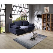 Schlafsofa Mix It B: 200 cm - Blau/Chromfarben, MODERN, Textil (200/92/96cm) - Luca Bessoni