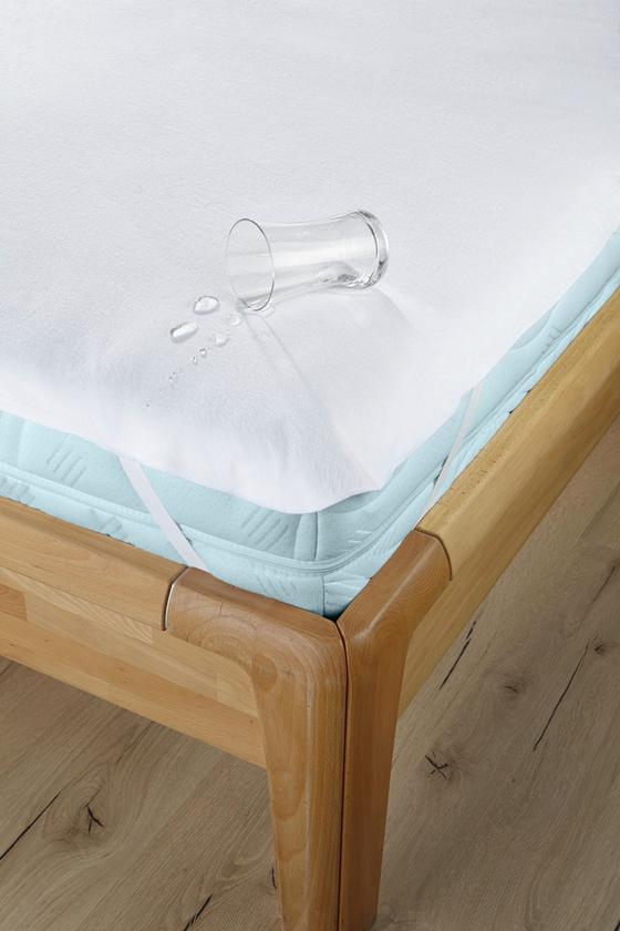 Matratzenschoner Silke 160x200 cm - Weiß, KONVENTIONELL, Textil (160/200cm) - Primatex