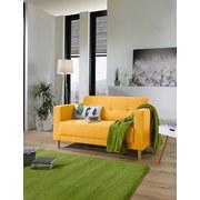 Zweisitzer-Sofa Geneve Webstoff - Gelb/Naturfarben, MODERN, Textil (148/81/75cm)