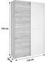 Szekrény Heimo - Tölgyfa/Fehér, konvencionális (125/195/38cm)