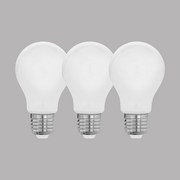 LED-Leuchtmittel 3er Pack E27, 806lm - Weiß, MODERN, Kunststoff (6/10,5cm)