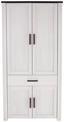 Šatní Skříň Provence - bílá/barvy wenge, Moderní, kompozitní dřevo (98/200/42cm) - James Wood