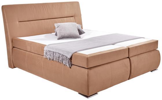 Boxspringbett Penna 180x200 Nougat - Chromfarben/Braun, KONVENTIONELL, Textil (180/200cm) - James Wood