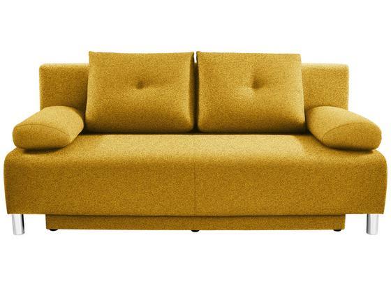 Pohovka Boxspring Ines - žltá, Moderný, drevo/textil (203/96/102cm) - Luca Bessoni