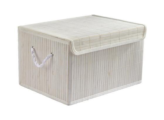 Košík Bambus Biely - biela, drevo/textil (41/31/24cm) - Mömax modern living