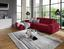 Wohnlandschaft L-form Adria 213x308cm - Rot, MODERN, Textil (213/308cm) - Luca Bessoni