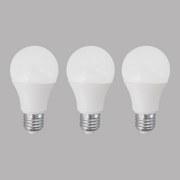 LED-Leuchtmittel 3er Pack E27, 800lm,10w - Weiß, MODERN, Kunststoff (6/11,8cm)