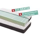 Komfortschaum- & Wendematratze Lifestyle 90x200cm H2/H3 - Weiß/Grau, MODERN, Textil (90/200cm) - Primatex Deluxe