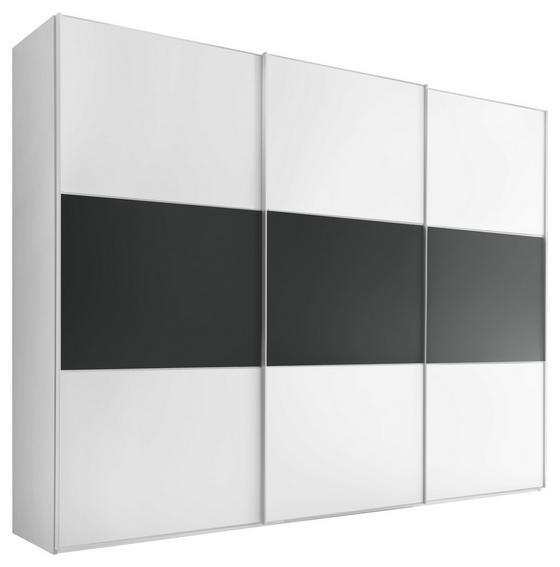 Schwebetürenschrank Includo 298cm Weiß/vulkan - Anthrazit/Weiß, MODERN, Holzwerkstoff (298/222/68cm)