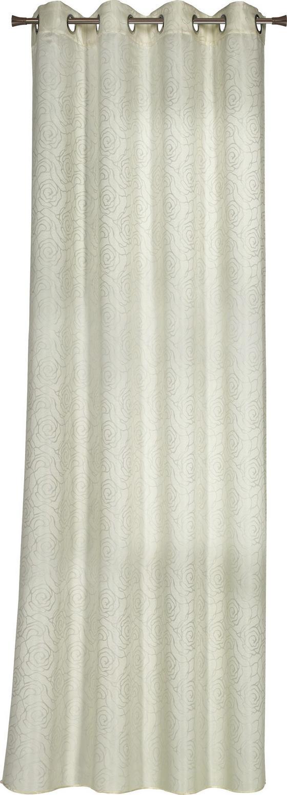 Ösenvorhang Martina - Beige, ROMANTIK / LANDHAUS, Textil (140/245cm) - James Wood