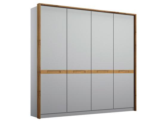 Drehtürenschrank Rangun B: 181 cm Grau - Grau, Basics, Holz/Holzwerkstoff (181/197/54cm)