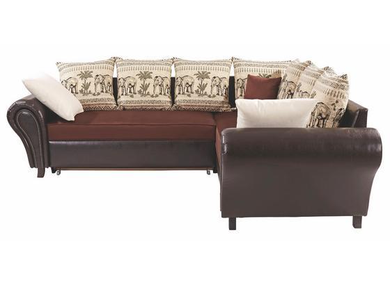 Sedacia Súprava Elephant - hnedá/krémová, Konvenčný, textil (270/245cm)