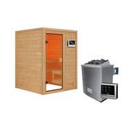 Sauna Tolouse mit externer Steuerung - Naturfarben, MODERN, Holz (145/187/145cm) - Karibu
