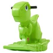 Schaukeltier Dino H: 33 cm Grün - Grün, Basics, Kunststoff (57/33/69cm)