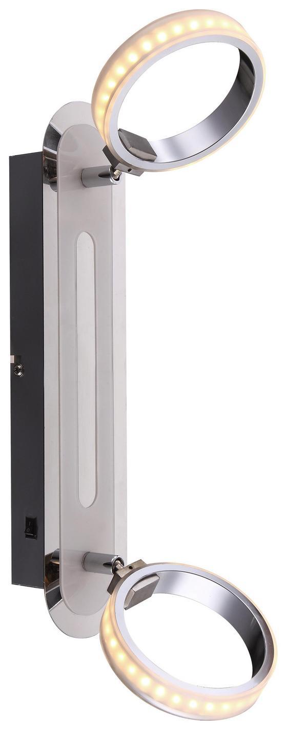 LED-Spotleuchte Idaho,2-flammig - Silberfarben, MODERN, Kunststoff/Metall (16,5/18,5/35cm)