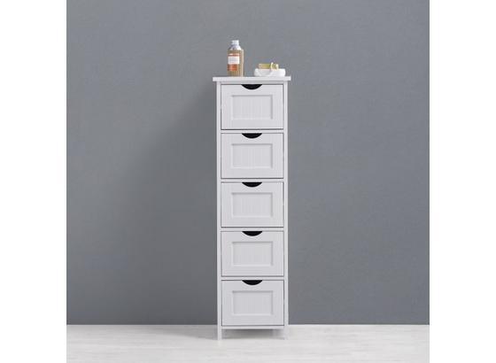 c521bb5cc Regál Do Kúpeľne Bianca - biela, Moderný, drevo (30/101/30cm