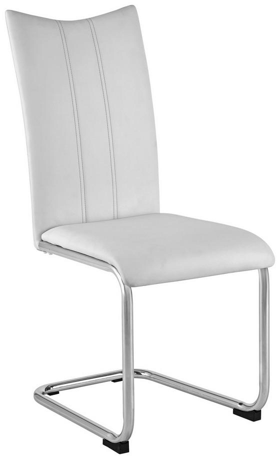Houpací Židle Iris - bílá/barvy chromu, Konvenční, kov/textil (44/97/54cm)