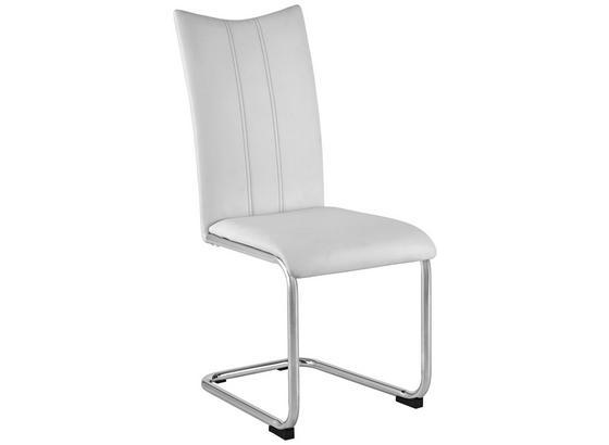 Houpací Židle Iris - bílá/barvy chromu, Konvenční, kov/textilie (44/97/54cm)