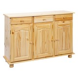 Kommode Echtholz B 130cm Abaco, Kiefer Naturfarben - Naturfarben, LIFESTYLE, Holz (130/87/43cm) - Carryhome