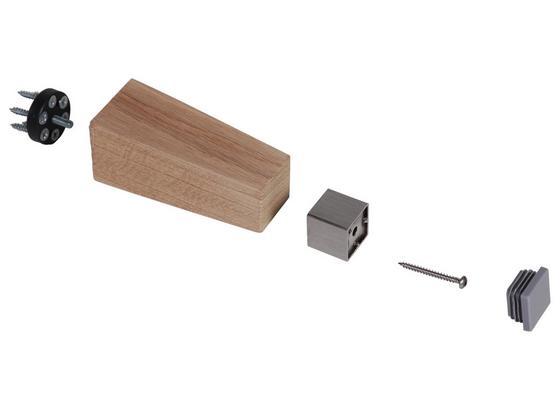Möbelfuß-Applikation Applikation B: 3 cm - Edelstahlfarben, Basics, Metall (3/3/3cm)