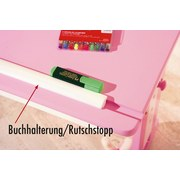 Jugendschreibtisch Cecilia B: 109 cm Weiß/ Rosa - Rosa/Weiß, Basics, Holz/Holzwerkstoff (55/109/63(96)cm) - Livetastic