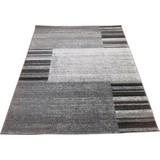Webteppich Florence - Schwarz/Grau, KONVENTIONELL, Textil (160/230cm) - OMBRA