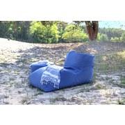 Outdoorsitzsack Wave B: 70 cm Blau - Dunkelblau, Basics, Kunststoff (70/65/125cm) - Ambia Garden