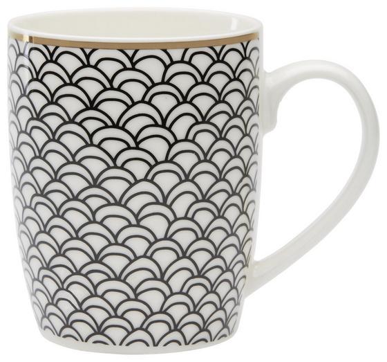 Kaffeebecher 8,5 cm - Goldfarben/Schwarz, KONVENTIONELL, Keramik (8,5/10,2cm)