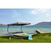 Sonnenliege Sintra - Grau, MODERN, Kunststoff/Textil (200/165/200cm) - LUCA BESSONI