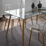 Jedálenský Stôl Vinnie - hnedá/číra, Moderný, kov/sklo (140/76/80cm) - Modern Living