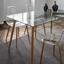 Jídelní Stůl Vinnie - čiré/hnědá, Moderní, kov/sklo (140/76/80cm) - Modern Living