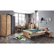 Bett Liverpool - Eichefarben/Graphitfarben, Design, Holzwerkstoff (120/200cm) - Livetastic