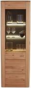 Vitrine Buffalo - Eichefarben, KONVENTIONELL, Glas/Holz (65/200/37cm)